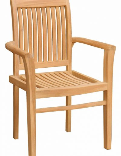VERTICAL SLAT STACKING CHAIR