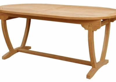 OVAL FIXED LEG TABLE